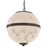 Justice Design FAL-8040-MBLK LumenAria Imperial LED 17 inch Matte Black Chandelier Ceiling Light