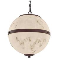Justice Design FAL-8041-DBRZ LumenAria Imperial LED 25 inch Dark Bronze Chandelier Ceiling Light