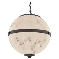 Justice Design FAL-8041-MBLK LumenAria Imperial LED 25 inch Matte Black Chandelier Ceiling Light