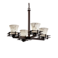 Justice Design Metropolis 4 Light Chandelier in Dark Bronze FAL-8100-20-DBRZ