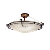 Justice Design Metropolis 6 Light Semi-Flush in Dark Bronze FAL-8112-35-DBRZ-LED-5000