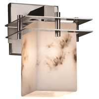 Justice Design FAL-8171-15-CROM-LED1-700 LumenAria LED 7 inch Polished Chrome Wall Sconce Wall Light in 700 Lm LED, Square with Flat Rim