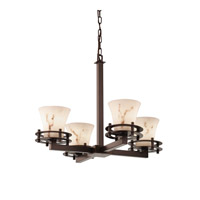 Justice Design LumenAria 4 Light Chandelier in Dark Bronze FAL-8200-20-DBRZ