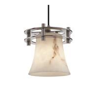 Justice Design LumenAria 1 Light Pendant in Brushed Nickel FAL-8265-20-NCKL-BKCD