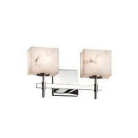 Justice Design Group LumenAria 2 Light Vanity Light in Polished Chrome FAL-8412-55-CROM