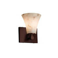 LumenAria 1 Light 6 inch Dark Bronze Wall Sconce Wall Light in Round Flared, Fluorescent