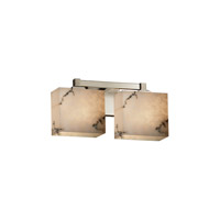 LumenAria 2 Light 15 inch Brushed Nickel Vanity Light Wall Light in Rectangle, Fluorescent