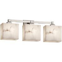 Justice Design FAL-8433-55-NCKL LumenAria 3 Light 24 inch Brushed Nickel Bath Bar Wall Light in Rectangle Incandescent Rectangle