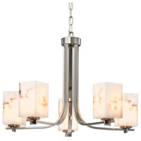 Justice Design Brushed Nickel LumenAria Chandeliers