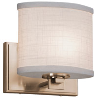 Justice Design FAL-8441-15-BRSS LumenAria 1 Light 7 inch Brushed Brass Wall Sconce Wall Light, Square w/ Flat Rim