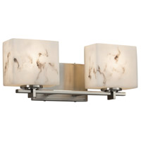 LumenAria 2 Light 16 inch Vanity Light Wall Light in 6.25, Brushed Nickel, LED, 15.5, Rectangle