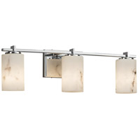 LumenAria 3 Light 24 inch Vanity Light Wall Light in 6.75, Polished Chrome, LED, Cylinder with Flat Rim