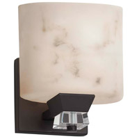 Justice Design FAL-8471-10-CROM LumenAria 1 Light 5 inch Polished Chrome Wall Sconce Wall Light in Cylinder with Flat Rim, Incandescent