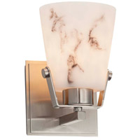 Justice Design FAL-8481-NCKL Lumenaria 1 Light 5 inch Brushed Nickel Wall Sconce Wall Light in Incandescent