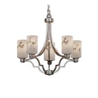 Justice Design FAL-8500-10-NCKL-LED5-3500 LumenAria LED 28 inch Brushed Nickel Chandelier Ceiling Light Argyle