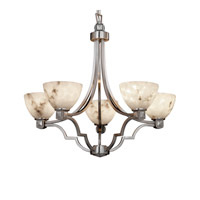Justice Design LumenAria Argyle 5-Light Chandelier in Brushed Nickel FAL-8500-35-NCKL