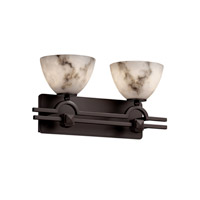 Justice Design LumenAria Argyle 2-Light Bath Bar in Dark Bronze FAL-8502-35-DBRZ