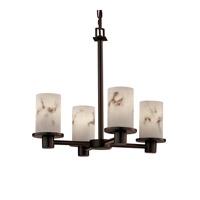 Justice Design LumenAria Rondo 4-Light Chandelier in Dark Bronze FAL-8510-10-DBRZ
