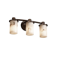 Justice Design LumenAria Rondo 3-Light Bath Bar in Dark Bronze FAL-8513-10-DBRZ