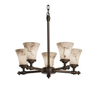 Justice Design LumenAria Tradition 5-Light Chandelier in Dark Bronze FAL-8520-20-DBRZ