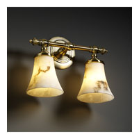 Justice Design LumenAria Tradition 2-Light Bath Bar in Antique Brass FAL-8522-20-ABRS