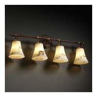 Justice Design LumenAria Tradition 4-Light Bath Bar in Dark Bronze FAL-8524-20-DBRZ