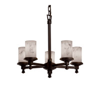 Justice Design LumenAria Deco 5-Light Chandelier in Dark Bronze FAL-8530-10-DBRZ