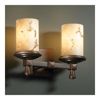 Justice Design LumenAria Deco 2-Light Bath Bar in Dark Bronze FAL-8532-10-DBRZ