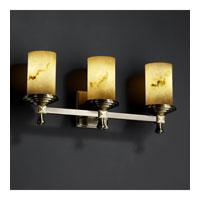Justice Design LumenAria Deco 3-Light Bath Bar in Antique Brass FAL-8533-10-ABRS photo thumbnail