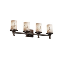 Justice Design LumenAria Deco 4-Light Bath Bar in Dark Bronze FAL-8534-10-DBRZ