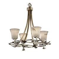 Justice Design LumenAria Arcadia 4-Uplight Chandelier in Antique Brass FAL-8560-20-ABRS