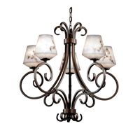 Justice Design LumenAria Victoria 5-Uplight Chandelier in Dark Bronze FAL-8570-22-DBRZ