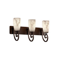 LumenAria 3 Light 25 inch Dark Bronze Bath Bar Wall Light in Tall Tapered Cylinder, Fluorescent