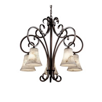 Justice Design LumenAria Victoria 5-Downlight Chandelier in Dark Bronze FAL-8575-20-DBRZ