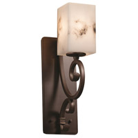 Justice Design FAL-8578-15-DBRZ LumenAria 1 Light 5 inch Dark Bronze Wall Sconce Wall Light in Square with Flat Rim, Incandescent, Square w/ Flat Rim