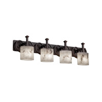 Justice Design LumenAria Heritage 4-Light Bath Bar in Dark Bronze FAL-8584-30-DBRZ