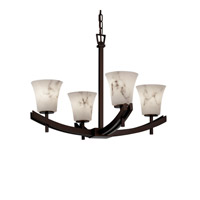 Justice Design Archway 4 Light Chandelier in Dark Bronze FAL-8590-20-DBRZ