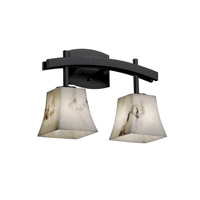 Justice Design LumenAria Archway 2-Light Bath Bar in Matte Black FAL-8592-40-MBLK