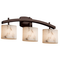 Justice Design FAL-8593-30-DBRZ LumenAria 3 Light 26 inch Dark Bronze Bath Bar Wall Light in Oval Incandescent Oval