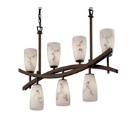 Justice Design Archway 7 Light Chandelier in Dark Bronze FAL-8598-28-DBRZ
