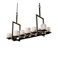 Justice Design LumenAria Montana 12-Up & 5-Downlight Bridge Chandelier (Short) in Dark Bronze FAL-8620-15-DBRZ
