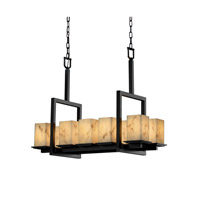 Justice Design LumenAria Montana 10-Light Bridge Chandelier in Matte Black FAL-8657-15-MBLK photo thumbnail