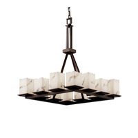 Justice Design LumenAria Montana 12-Light Ring Chandelier (Tall) in Dark Bronze FAL-8663-17-DBRZ photo thumbnail