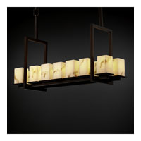 Justice Design LumenAria Montana 14-Light Bridge Chandelier (Tall) in Dark Bronze FAL-8664-15-DBRZ