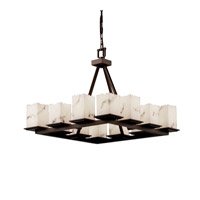 Justice Design LumenAria Montana 12-Light Ring Chandelier (Short) in Dark Bronze FAL-8668-17-DBRZ