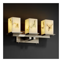 LumenAria 3 Light 21 inch Brushed Nickel Bath Bar Wall Light in Square with Flat Rim