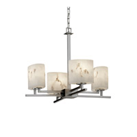 Justice Design LumenAria Aero 4-Light Chandelier in Brushed Nickel FAL-8700-30-NCKL