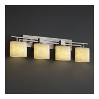 Justice Design LumenAria Aero 4-Light Bath Bar in Brushed Nickel FAL-8704-30-NCKL