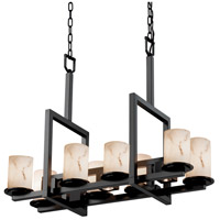 LumenAria 11 Light 13 inch Matte Black Chandelier Ceiling Light in Cylinder with Flat Rim