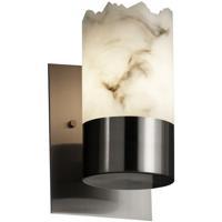 Justice Design LumenAria Dakota 1-Uplight Wall Sconce in Brushed Nickel FAL-8761-12-NCKL